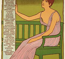 Reproduction of a poster advertising the Georges Petit Gallery by Bridgeman Art Library