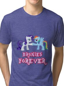 Bronies Forever (No Heart) 4 Tri-blend T-Shirt