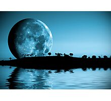 Full moon landscape Photographic Print