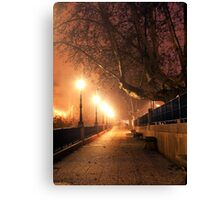 Night cityscape Canvas Print