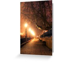Night cityscape Greeting Card