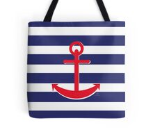 AFE~Nautical- Red Ship anchor Tote Bag