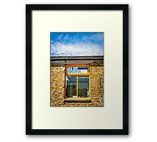 View Inside And The Sky Above Framed Print