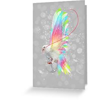 Faith Makes Things Possible (Neon Wings Series II) Greeting Card