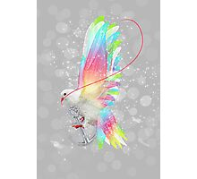 Faith Makes Things Possible (Neon Wings Series II) Photographic Print