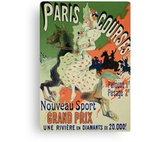 Reproduction of a poster advertising Paris Courses Canvas Print