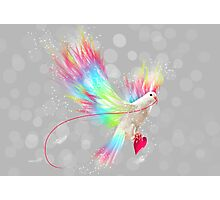 I Carry Your Heart With Me (Neon Wings Series I) Photographic Print