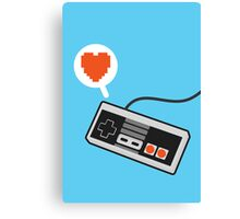 I HEART NES Canvas Print