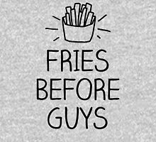 fries before guys- hand lettered Womens Fitted T-Shirt