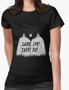 Same shit... Womens Fitted T-Shirt