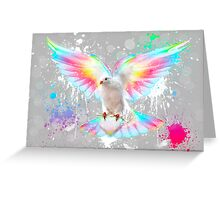 Beauty Is A Light In The Heart - (Neon Wings Series IV) Greeting Card