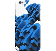 question mark iPhone Case/Skin