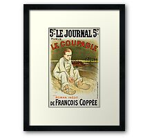 Reproduction of a poster advertising the novel Le Coupable Framed Print