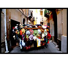 Mad hats in Trapani Photographic Print