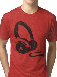Headphone art Tri-blend T-Shirt