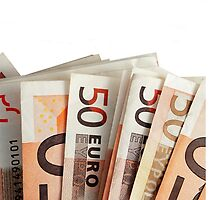 euro bills background by carloscastilla