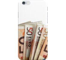 euro bills background iPhone Case/Skin