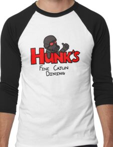 HUNK's Fine Cajun Dining Men's Baseball ¾ T-Shirt