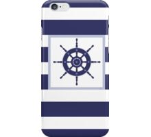AFE~Nautical- Navy Helm Wheel iPhone Case/Skin