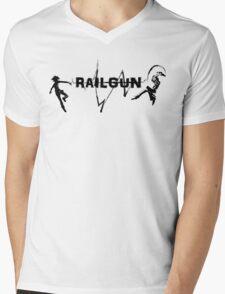 RAILGUN Mens V-Neck T-Shirt