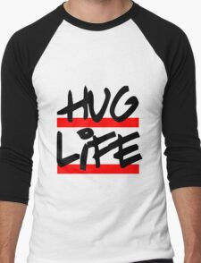 I didn't choose the hug life, it chose a cooler font Men's Baseball ¾ T-Shirt