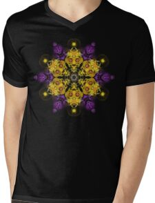 Fractal Tnemele Mens V-Neck T-Shirt