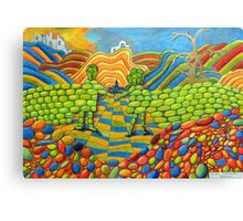 405 - THE WALL OF FRIENDSHIP - I - DAVE EDWARDS - COLOURED PENCILS & FINELINERS - 2014 Canvas Print