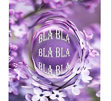 iPhone & iPod Cases... BLA BLA BLA-Purple Floral by haya1812