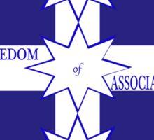 Freedom Of Association Eureka Flag Sticker