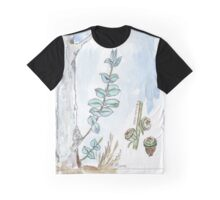 Eucalyptus and gum seeds - a fresh start - Botanical Graphic T-Shirt