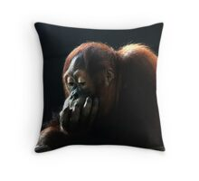 deep thinker num 1 Throw Pillow