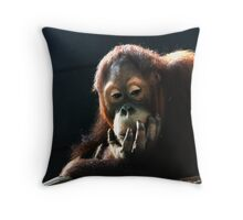 Deep Thinker num 4 Throw Pillow