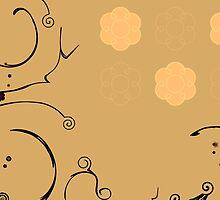 Flower Scribble Swirls And Twirls by mydeas