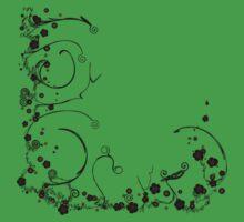 Flower Scribble Swirls And Twirls Baby Tee