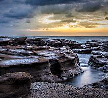 Wet rocks by Chris Brunton