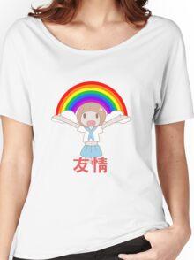 Mako Friendship! 友情 Women's Relaxed Fit T-Shirt