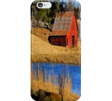 Country Red Barn, and Cobalt Blue Water Phone Case iPhone Case/Skin