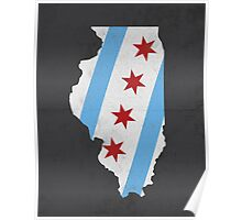 Chicago Flag Illinois Print Poster