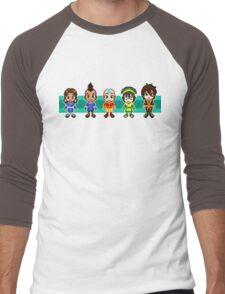 Team Avatar Plus Sifu Hotman Pixels Men's Baseball ¾ T-Shirt