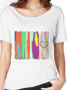 Watercolor palette in stripes Women's Relaxed Fit T-Shirt