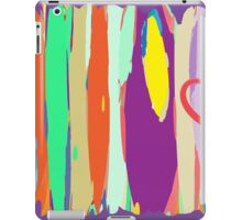 Watercolor palette in stripes iPad Case/Skin
