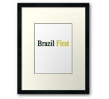 Brazil First  Framed Print