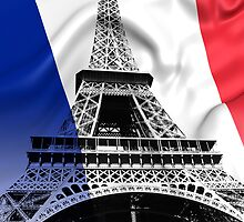 FRENCH FLAG and EIFFEL TOWER by Daniel-Hagerman