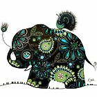 The Elephant and the Peacock by © Cassidy (Karin) Taylor