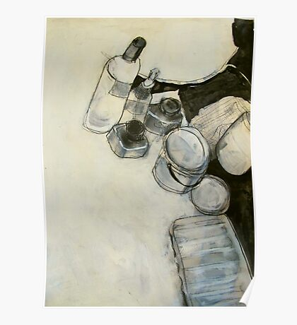 ink and paint still life  Poster