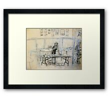 art class at the sailing squadron hall Framed Print