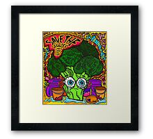 Save The Veggies - Broccoli Framed Print