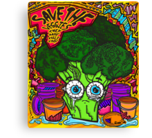 Save The Veggies - Broccoli Canvas Print