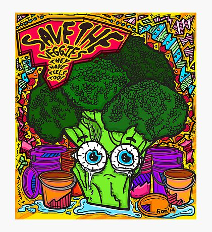Save The Veggies - Broccoli Photographic Print