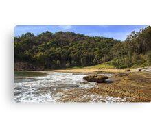 Flint and steel beach West Head NSW Canvas Print